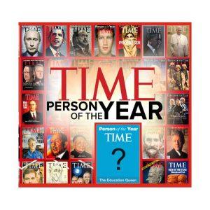 колаж за юбилей корица на списание тайм