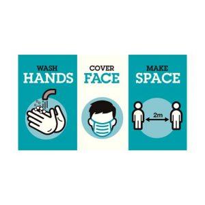 стикер hands face space